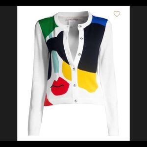 """Alice+Olivia """"Ruthy Staceface Colorblock Cardigan"""""""